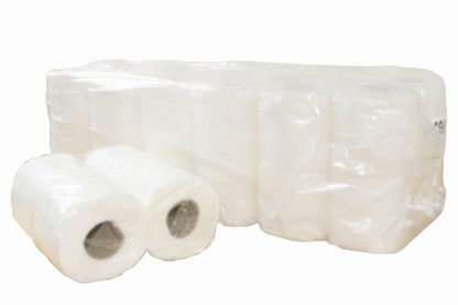 White 2 Ply Recycled Toilet Rolls - 200 Sheet