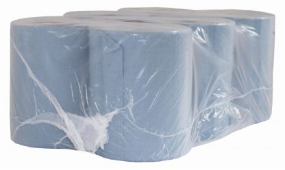Autocut 1 Ply Blue Roll Towel