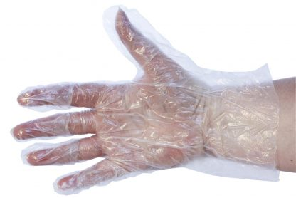 Clear Polythene Gloves in Dispenser Boxes