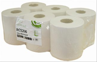 White Centrefeed Roll 20cm x 150m 2 Ply Recycled