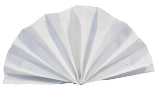 30cm 1 Ply White Napkin