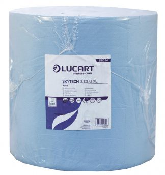 SkyTech Blue 3 Ply Recycled Wiping Roll  35.5cm x 360m