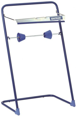 Katrin Blue Steel Wiping Roll Floor Stand
