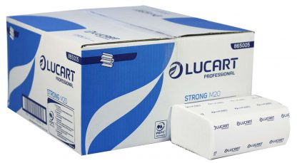 Lucart Strong 2 Ply M20 M-Fold Pure Pulp Paper Hand Towels