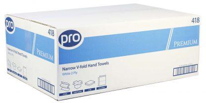 PRO Premium Easipull White 2 Ply Narrow Paper Towel