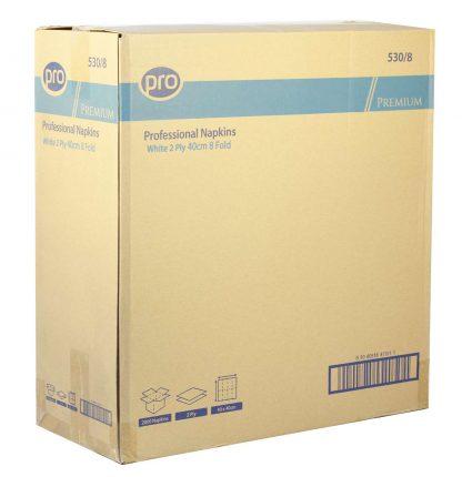 PRO 40cm 2 Ply White 8-Fold Napkin