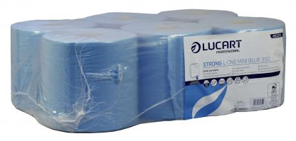 Lucart L-ONE Mini Strong Blue Centrefeed Roll