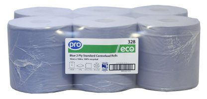 PRO Blue 2 Ply Economy Centrefeed Roll 19.5cm x 150m