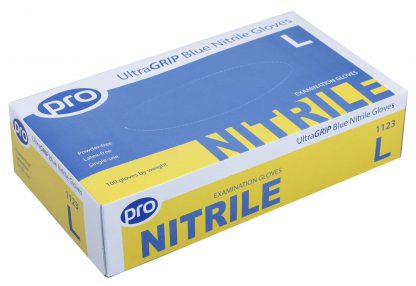 PRO UltraGRIP Blue Nitrile Gloves