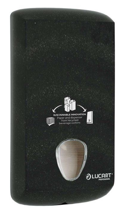 Lucart Alpe Black Bulk Pack Toilet Tissue Dispenser