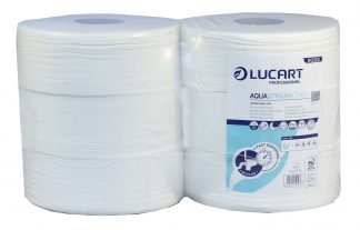 Lucart AquaStream 2 Ply Jumbo Toilet Tissue 340m 76mm core 812222