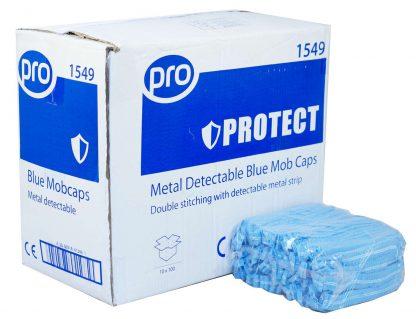 PRO Metal Detectable Blue Mob Caps
