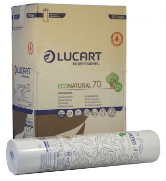 EcoNatural Unbleached 2 Ply Couch Roll 59cm x 70m