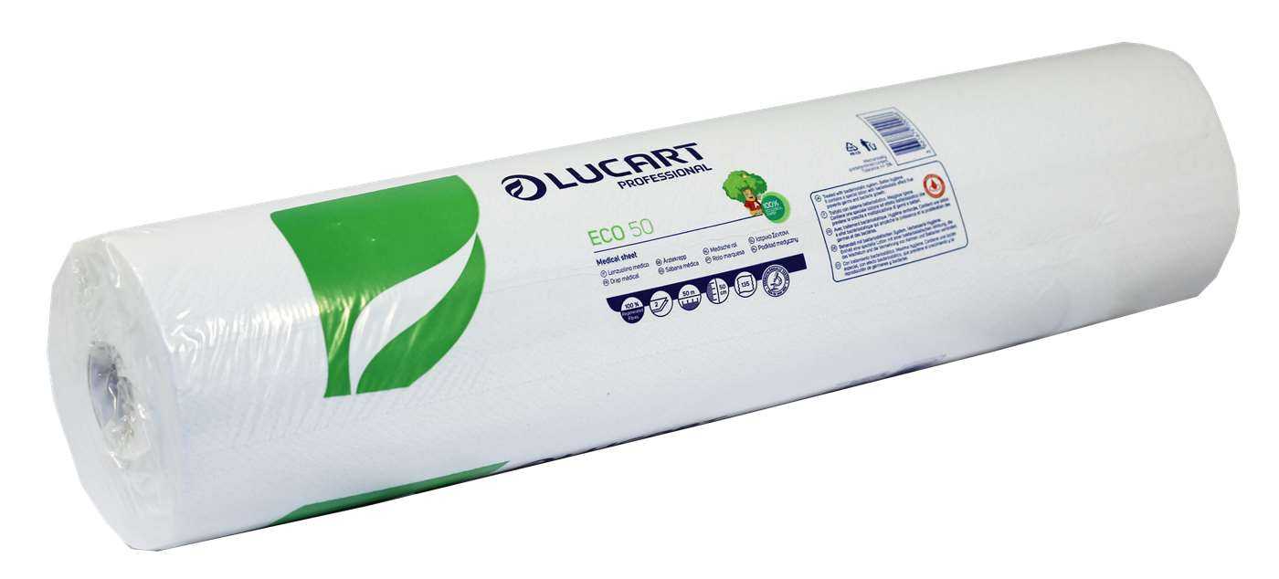 Lucart Eco Couch Roll 2 Ply White 50cm x 50m