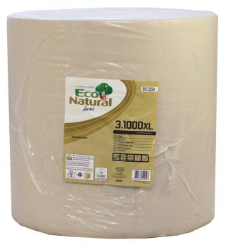 EcoNatural 1000 sheet 3 Ply Havana Wiping Roll