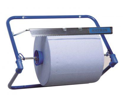 Katrin Blue Steel Wiping Roll Wall Dispenser