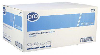 PRO Premium Easipull V-Fold 2 Ply White Paper Hand Towels