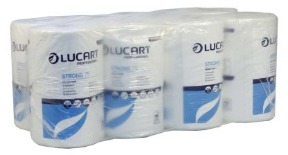 Lucart Strong White Mini Centrefeed Roll 2 Ply 852107U