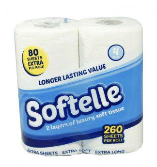 Softelle Luxury Toilet Rolls 2 Ply 260 Sheet