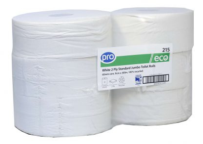 PRO Standard Jumbo Toilet Rolls 300m (60mm Core)