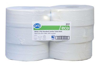 PRO Standard Jumbo Toilet Rolls 300m (76mm Core)