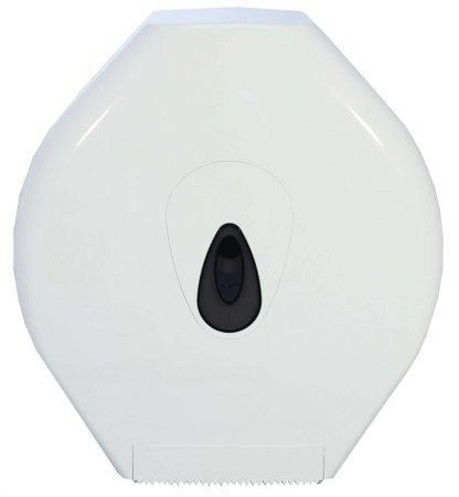 Standard Jumbo Toilet Roll Dispenser in White Plastic