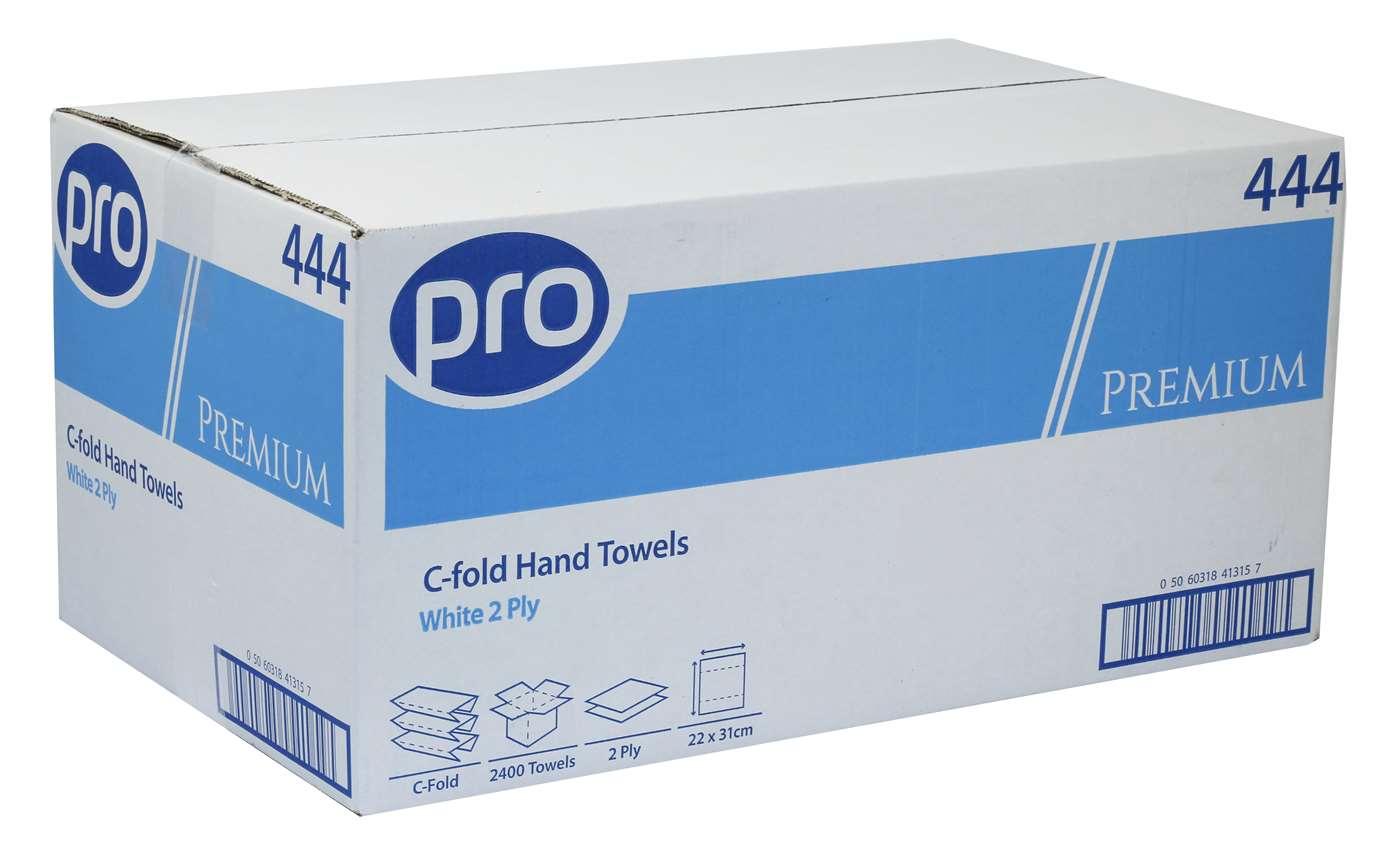 PRO Premium C-Fold 2 Ply White Paper Towels