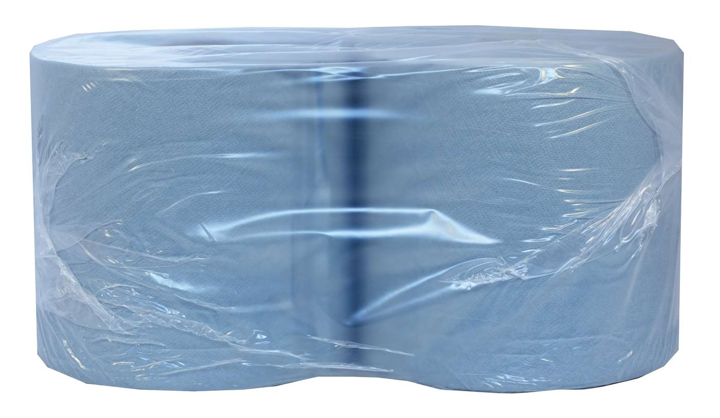 PRO 1000 Sheet 2 ply Blue Wiping Roll